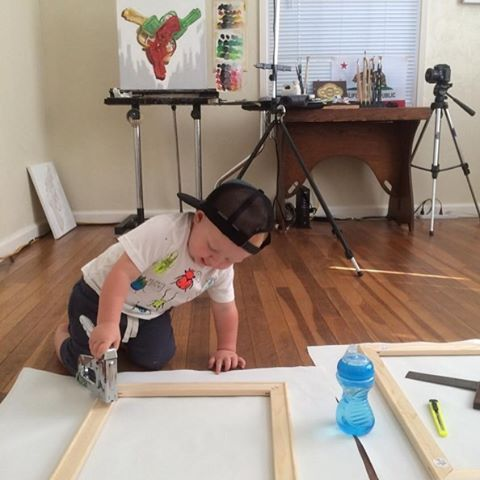 You can never start too young. Oil painter Chad Pierce (@chadpierce) proved that by showing his son using our Heavy Duty T50 Staple Gun to stretch some canvas. Now that's one impressive boy! Want to be featured on our channel? Simply tag us by using on your next project!
