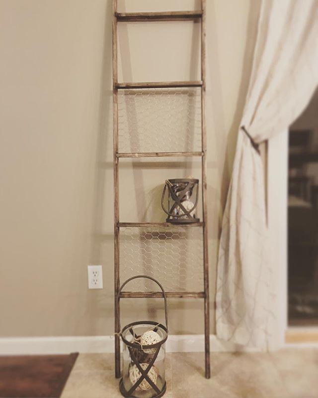 Chicken wire decorative ladder @arrowfastener
