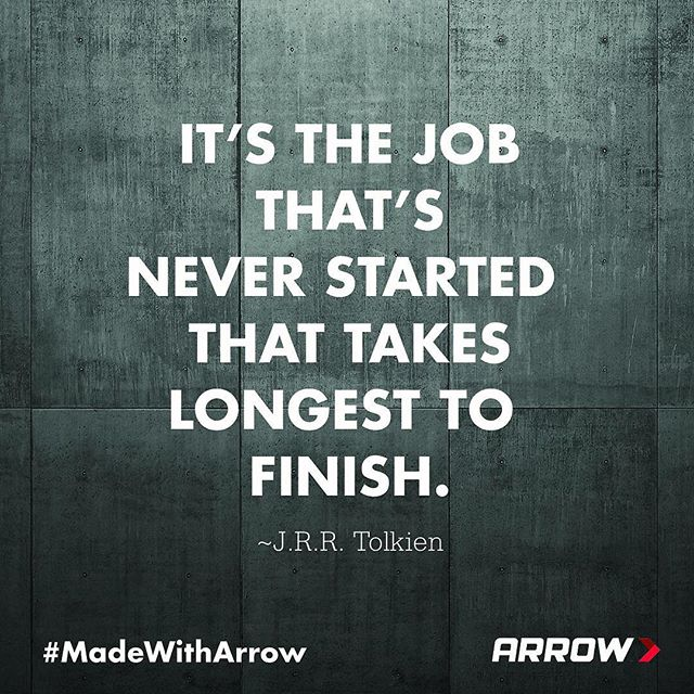 Time for you to get started, #ArrowStrong.