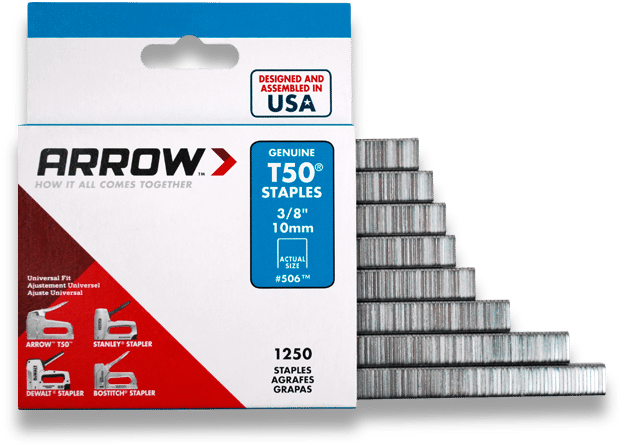 "#509 Arrow Staples 9//16/"" 14mm For T50 Manual /& Electric Staples Guns Box of 1250"