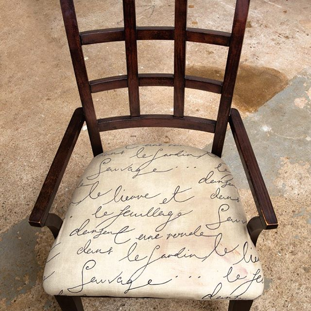 IT'S REUPHOLSTERY TIME if your chair looks like this. Click the link in our profile to learn how to give those old seats new life.