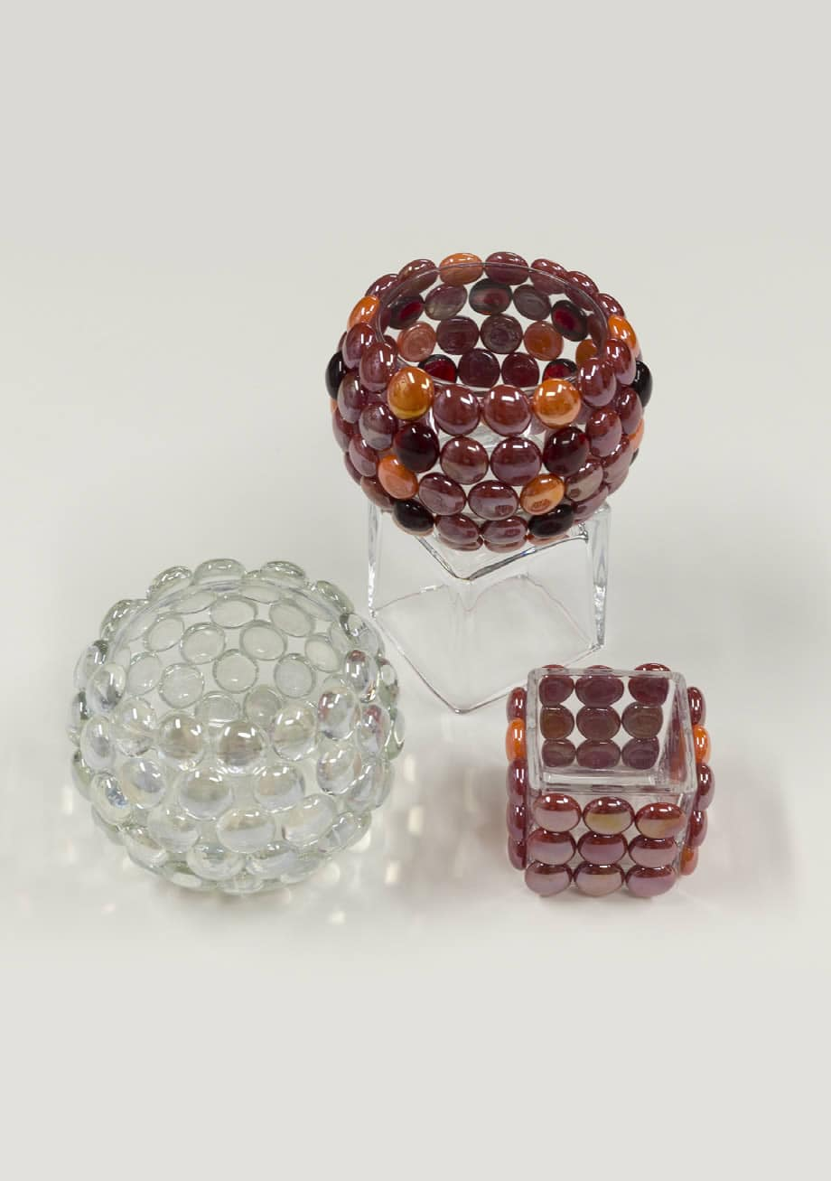 Glass Gem Votive Holder