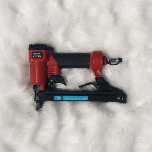 """I'm going to post a picture like a beauty blogger but with a twist. Instead of posting a new eyeshadow palette I just got in the in mail, I'm going to post a picture of the pneumatic staple gun I've been dying to arrive all week… on a fur background. I can't wait to use it later this evening."" Via @chicantiquing 