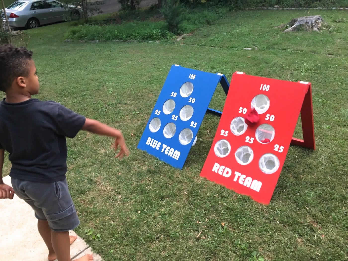 Backyard Bean Bag Toss Game