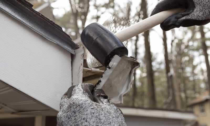 Diy Project Replace Damaged Rain Gutter End Cap Arrow