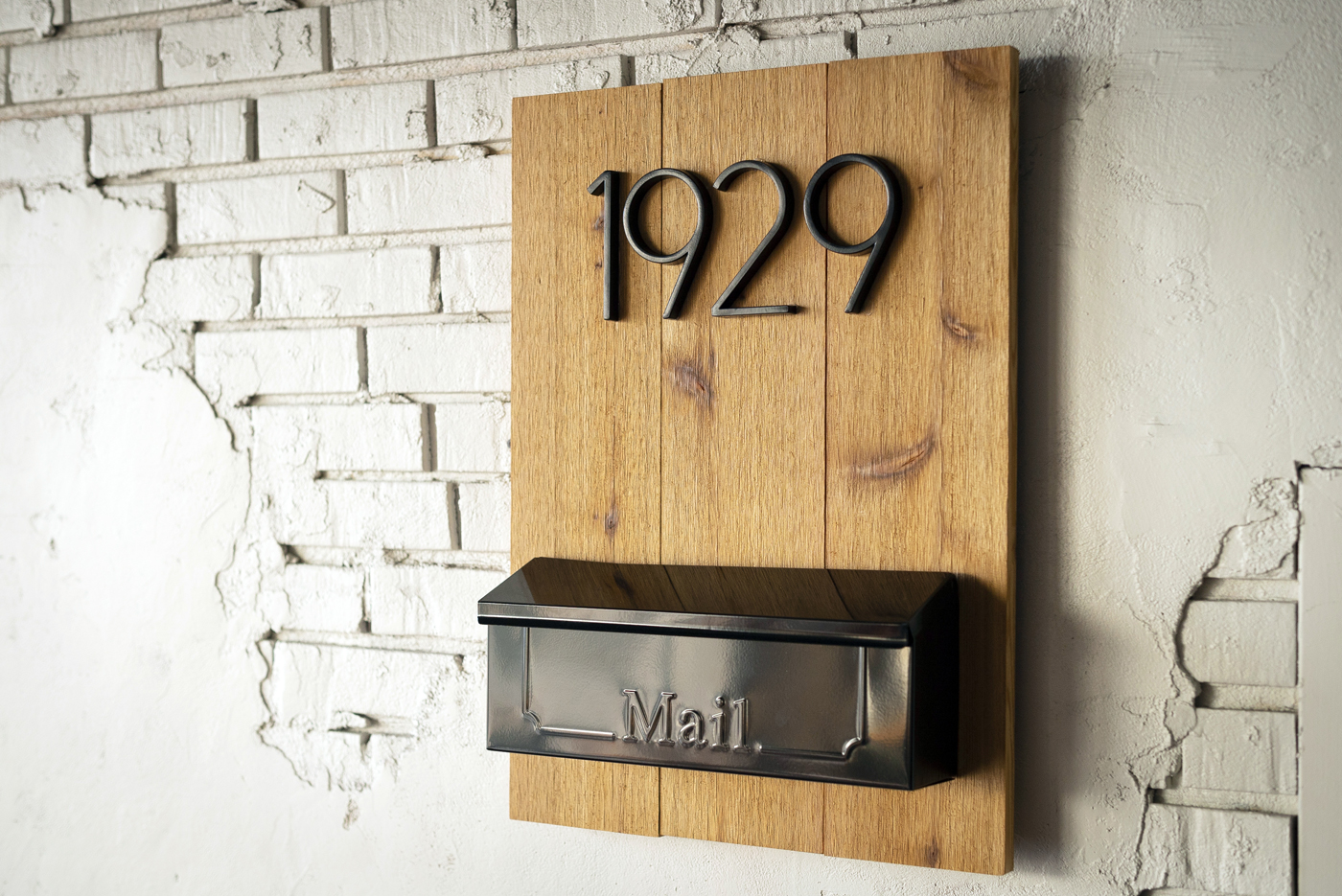 DIY House Number Mailbox