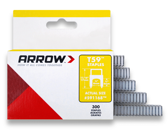 Arrow Fastener 591168 1//4 X 1//4 Clear T59 Staples